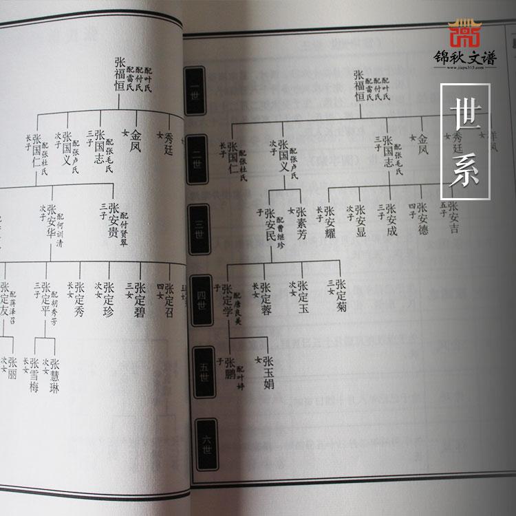 四川省成都市金堂县白果镇张氏族谱